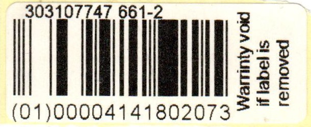 warranty label gfc