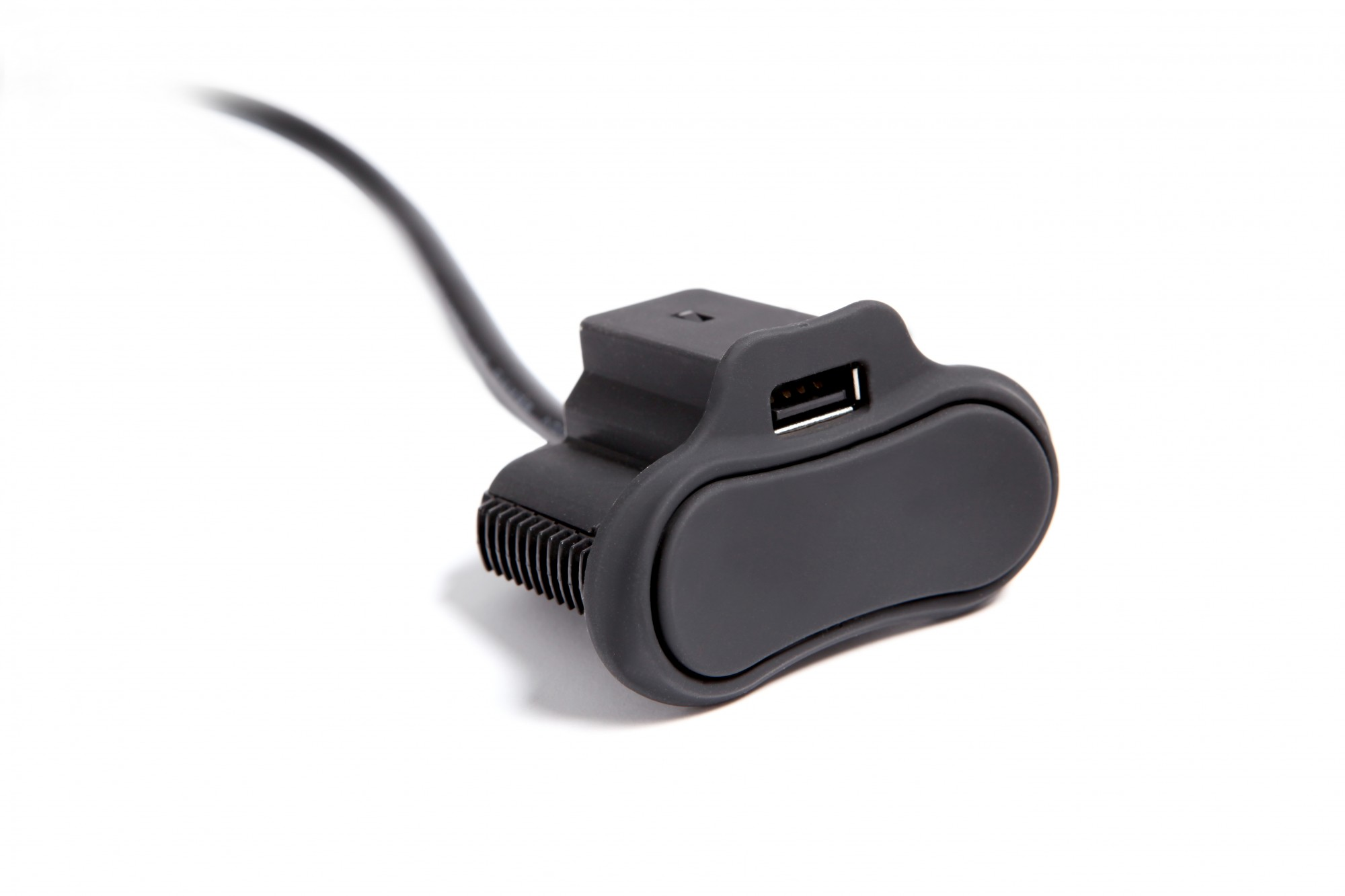 Power Recline Toggle Switch w/ Single USB Charger in Black Rubber
