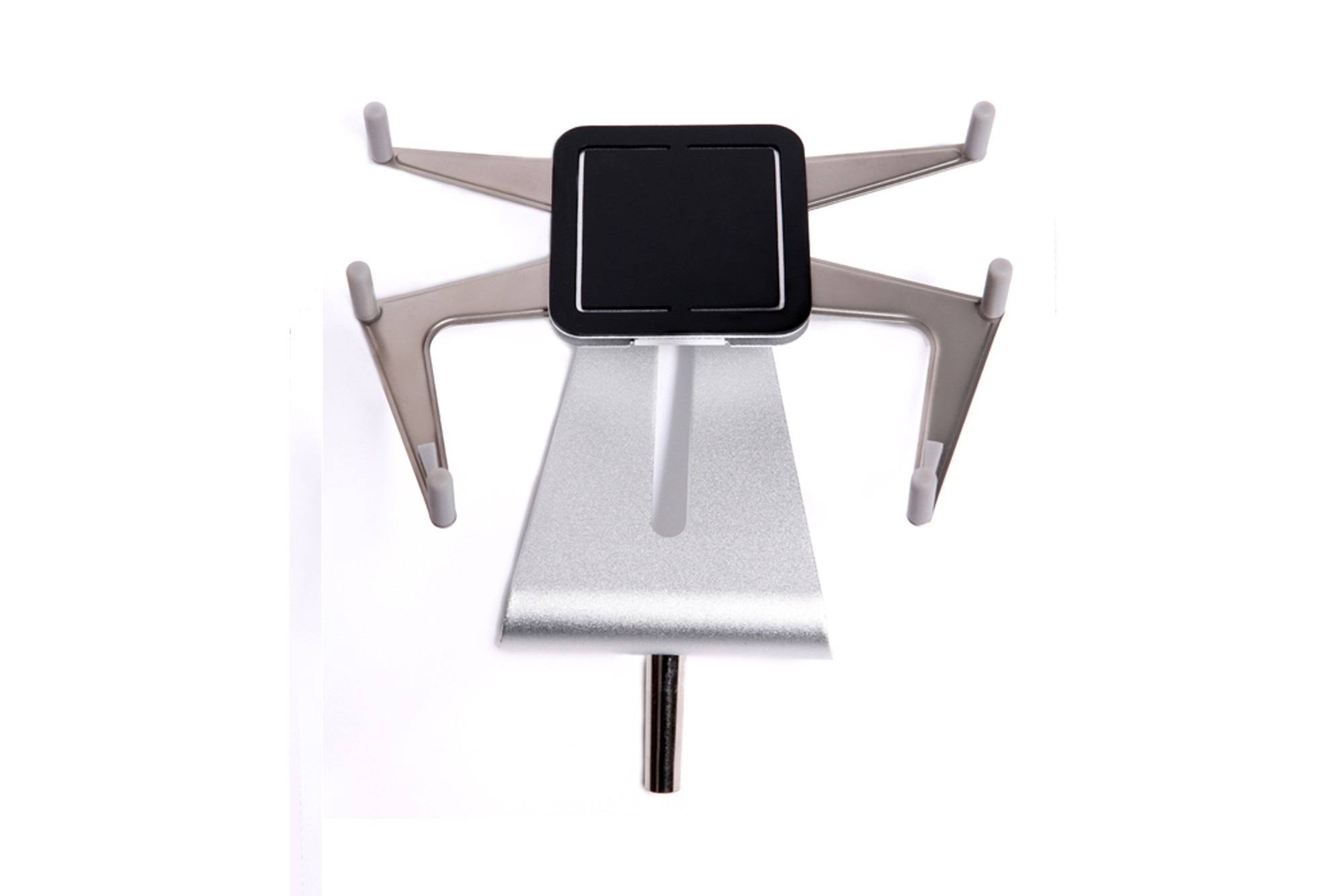 Tablet Holder w/ Silver Stand for spring loaded grommet