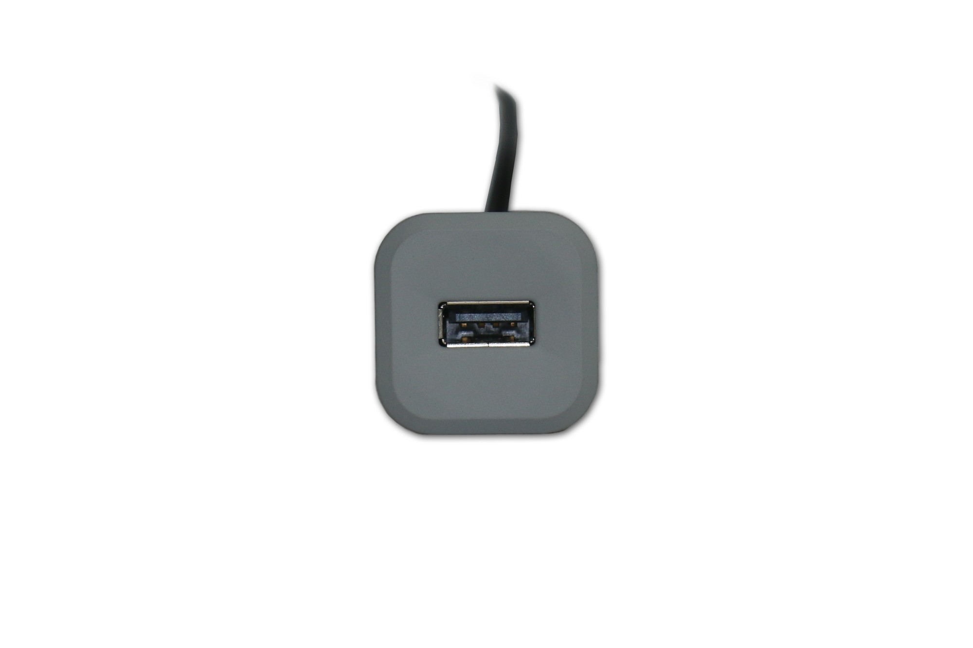 Mini Square USB Charger in Grey