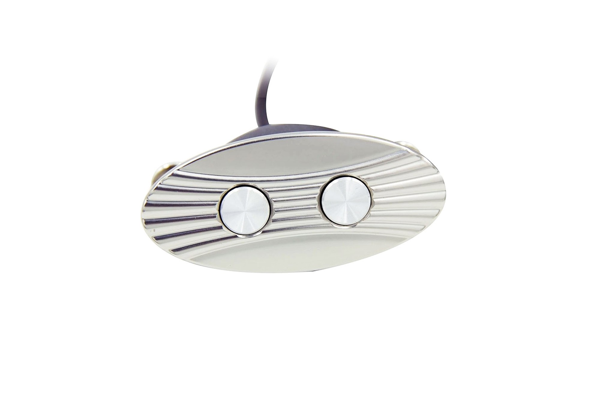 2-Button Oval Power Recline Switch in Chrome Finish