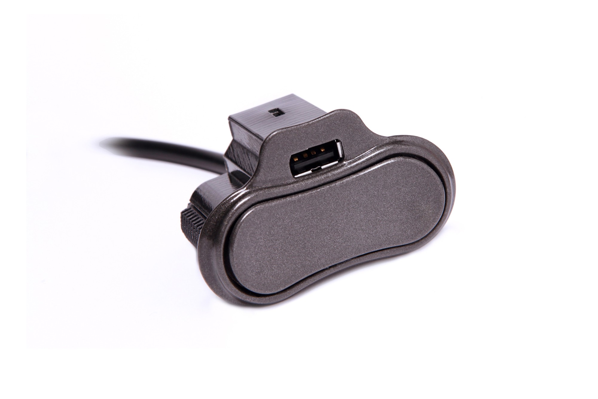 Power Recline Toggle Switch w/ Single USB Charger in stone finish