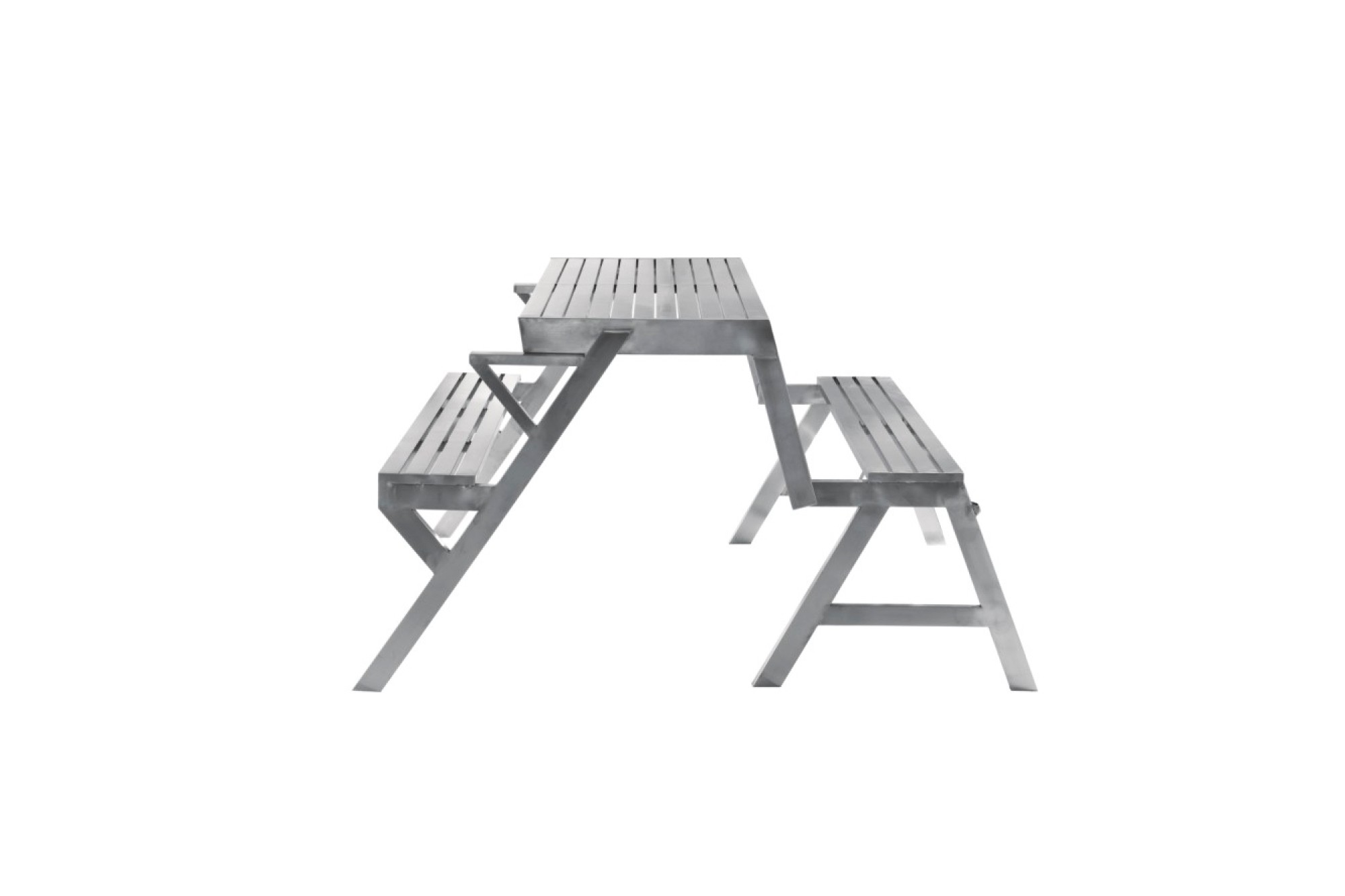 Stainless steel snack table