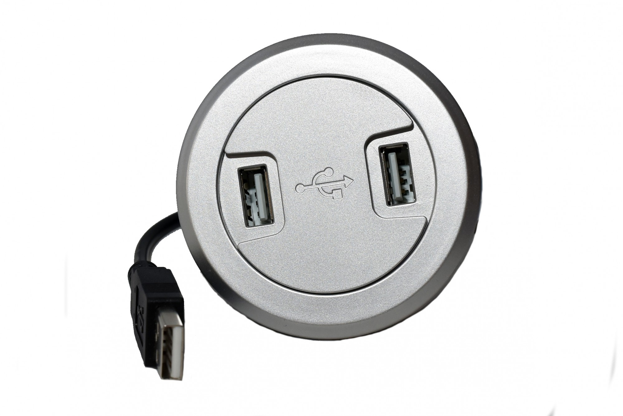DUAL ROUND USB CHARGER