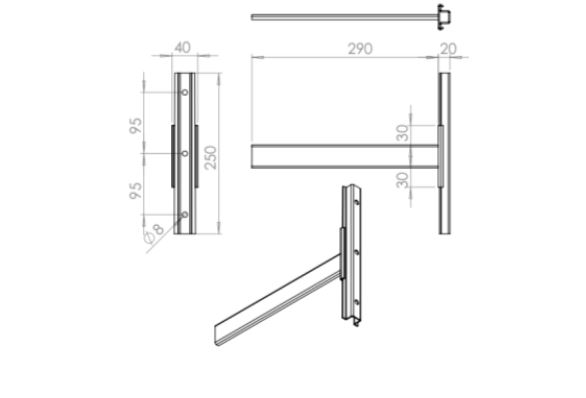 Headboard mounting bracket