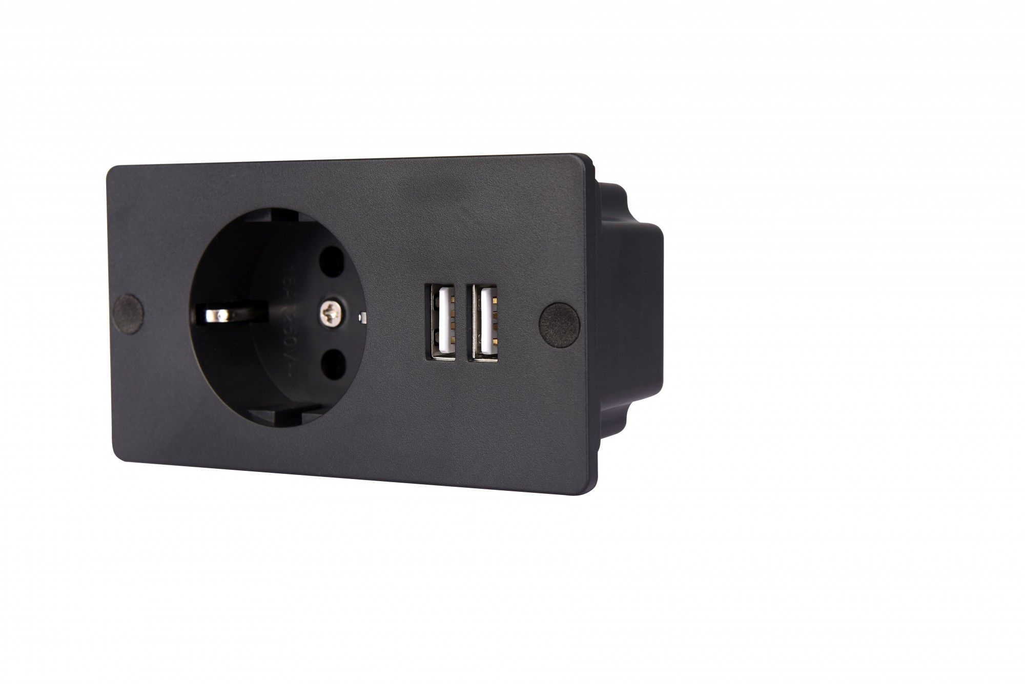 Power outlet with 2 USB charging